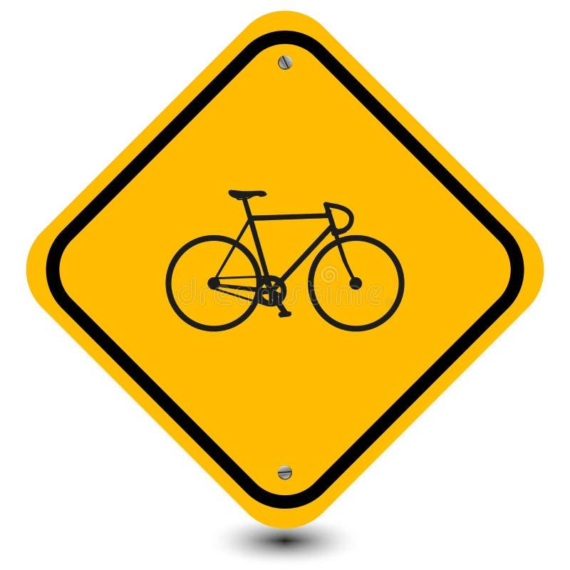 Signe de bicyclette illustration stock