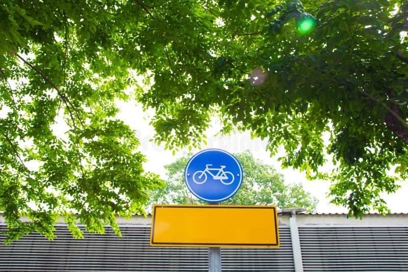 Signe de bicyclette images stock