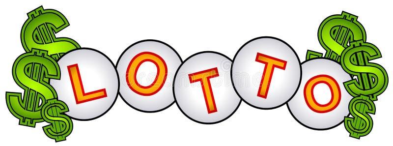 Signe de billes de loterie d'argent comptant de loto illustration stock