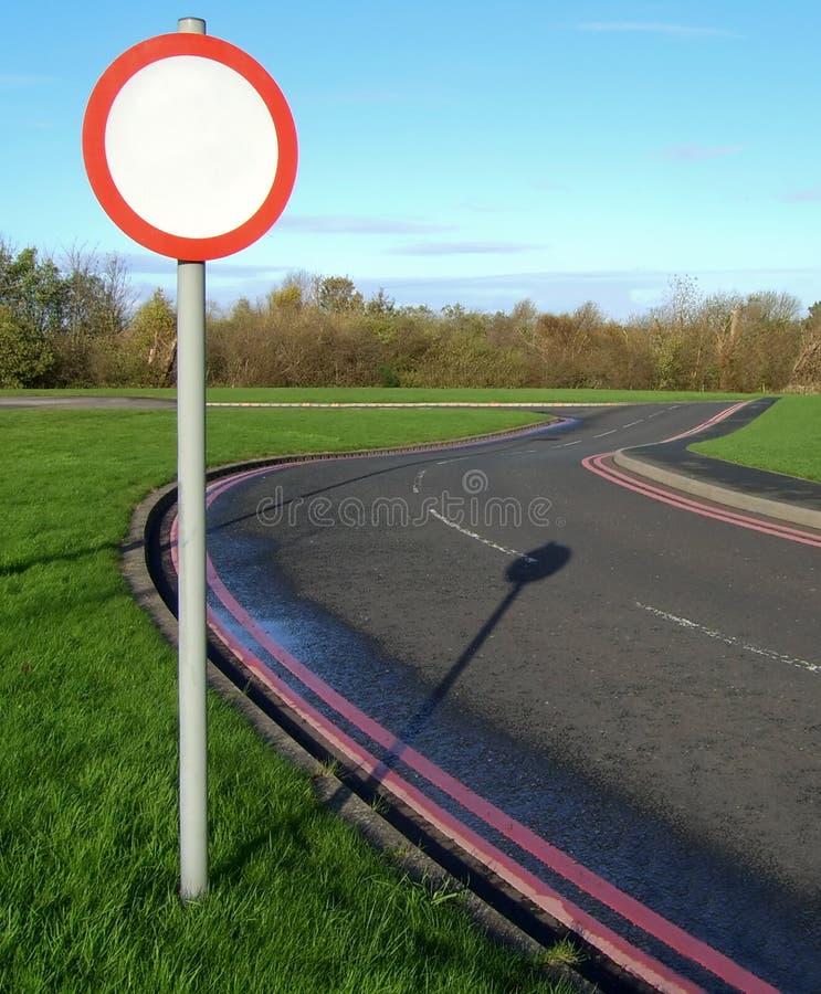 Signe de bord de la route photographie stock libre de droits