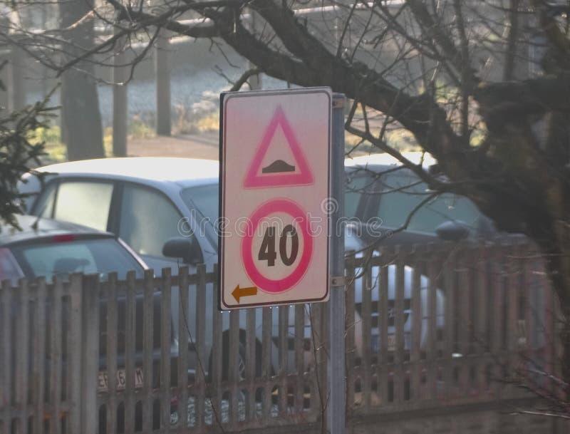 signe de bosse de bosse de vitesse image libre de droits