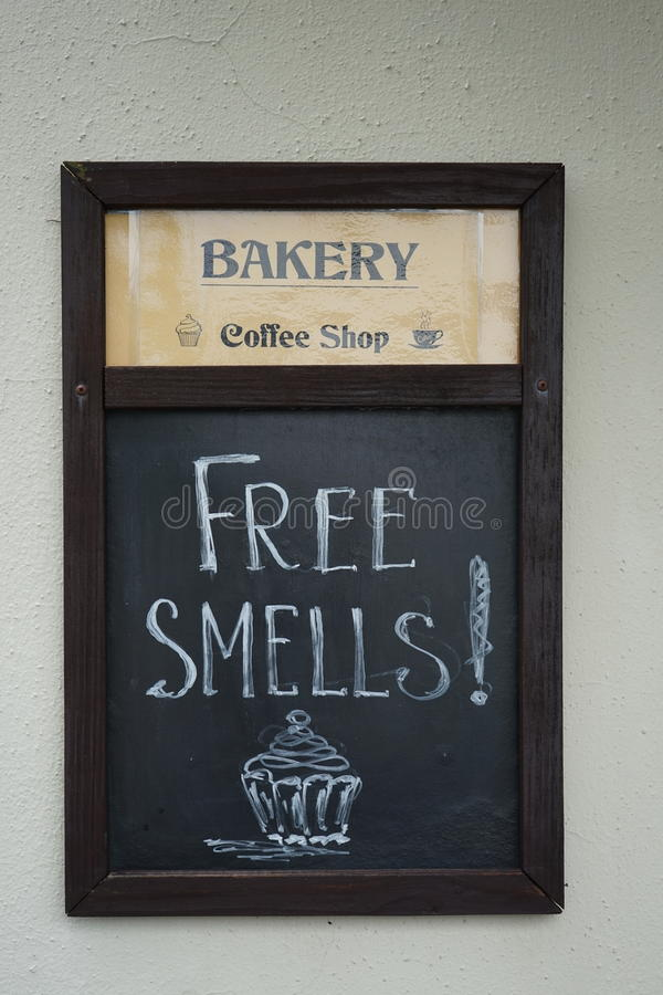 Signe de boulangerie photos stock