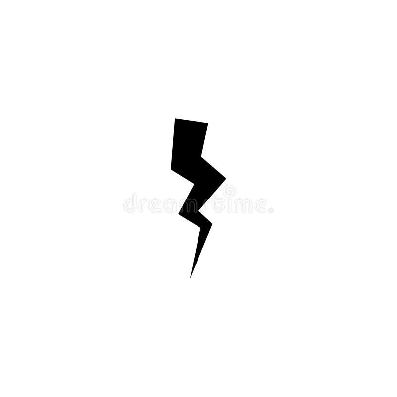 Signe de boulon d'orage Symbole de coup de foudre et d'?lectricit? illustration de vecteur
