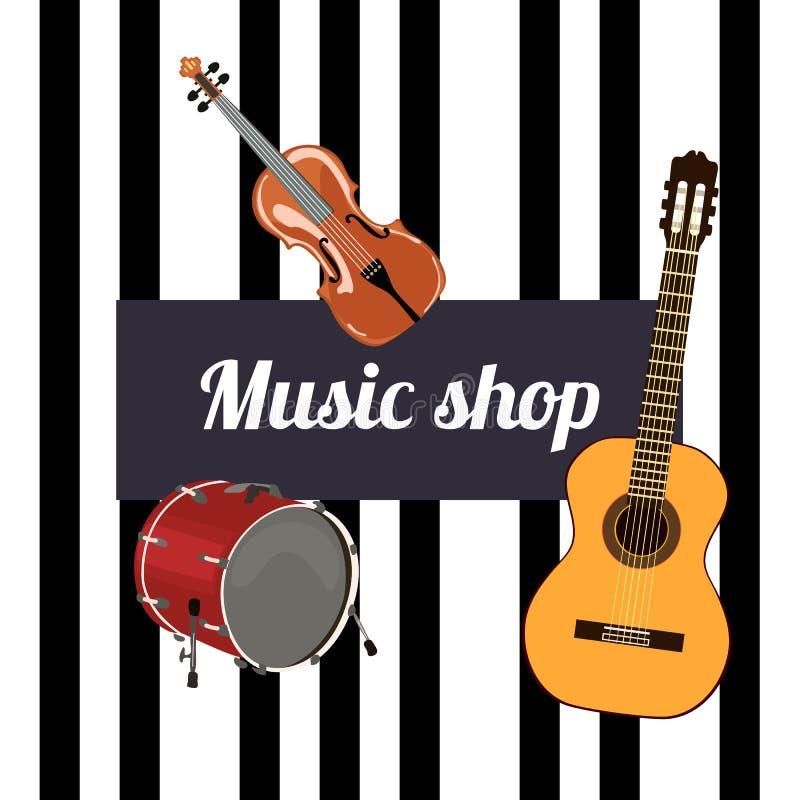 Signe de boutique de musique illustration libre de droits
