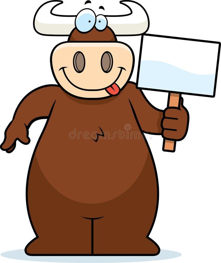 Signe de Bull illustration stock
