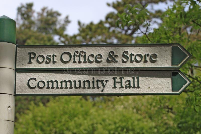 Signe de bureau de poste photographie stock libre de droits