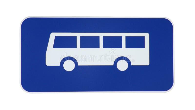 Signe de bus photographie stock