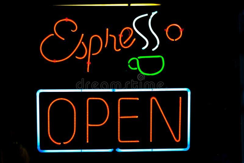 Signe de café express images libres de droits