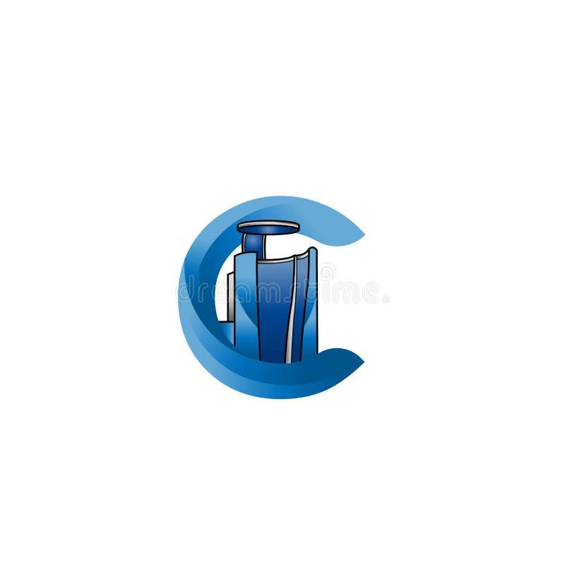 Signe de calibre de conception de logo de vecteur de Cryotherapy L'illustration de la chambre de Cryo peut employer également com illustration de vecteur