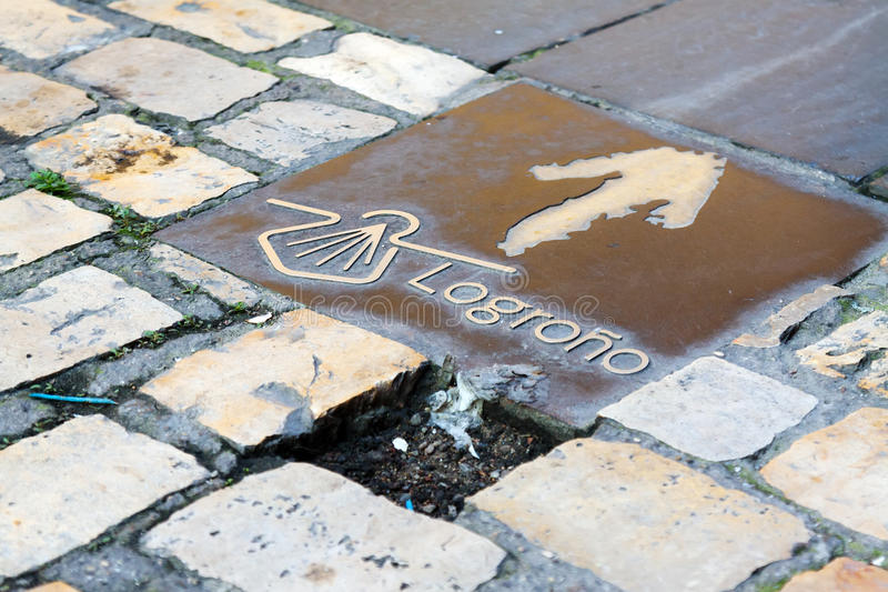Signe de Camino De Santiago photographie stock libre de droits