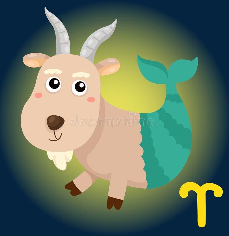 Signe de Capricorne de zodiaque illustration libre de droits