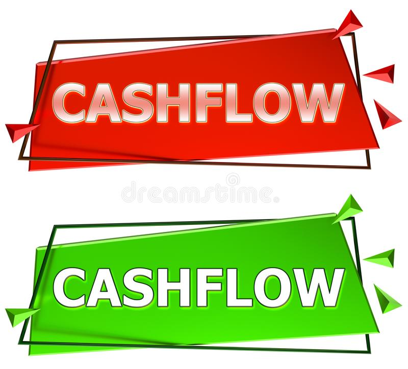 Signe de cash flow illustration de vecteur