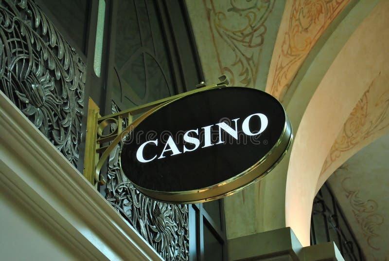 Signe de casino photographie stock