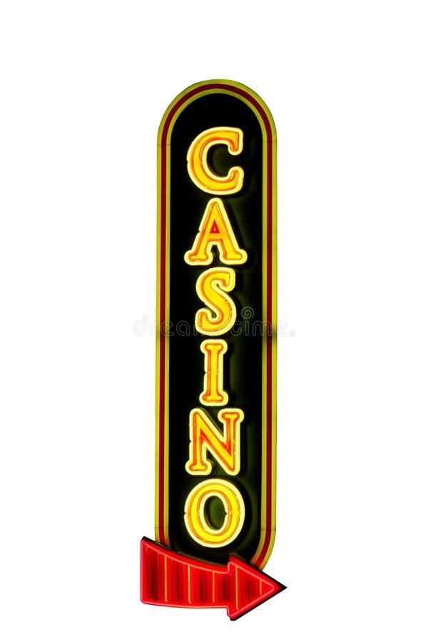 Signe de casino photo libre de droits