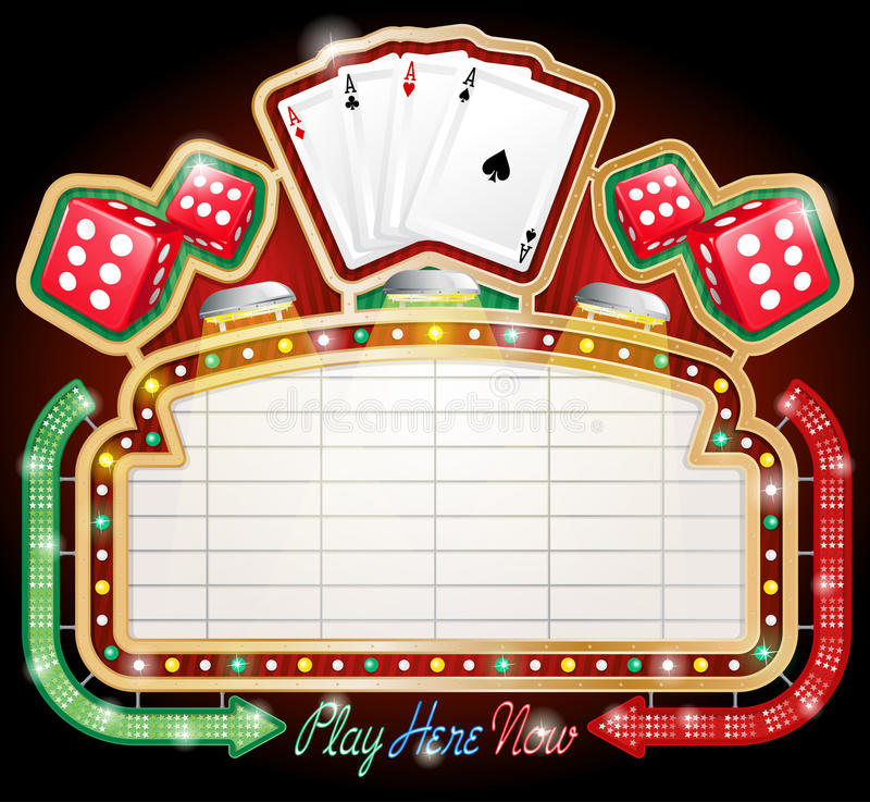 Signe de casino illustration libre de droits