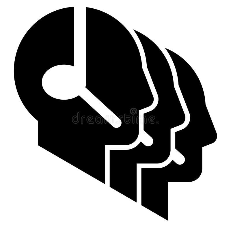 Signe de centre d'attention téléphonique illustration de vecteur