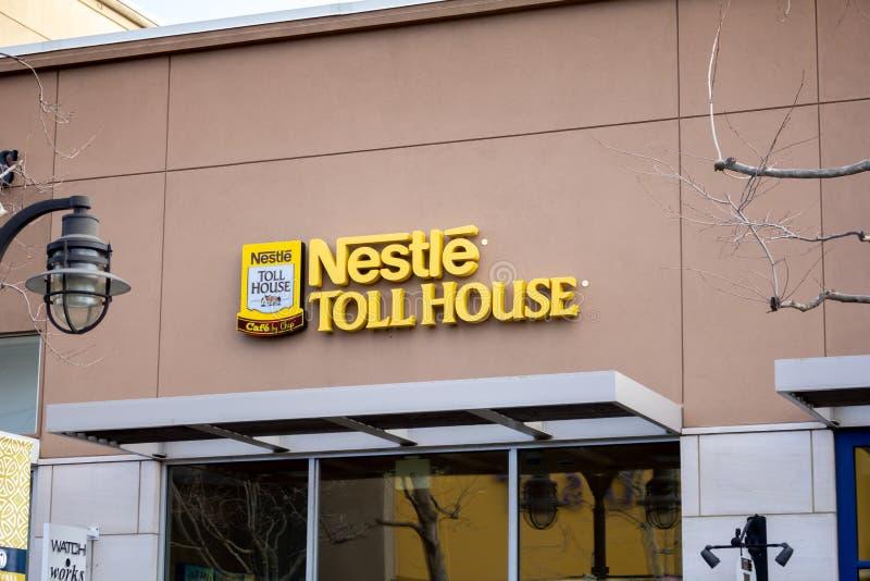 Signe de Chambre de péage de Nestle photos libres de droits