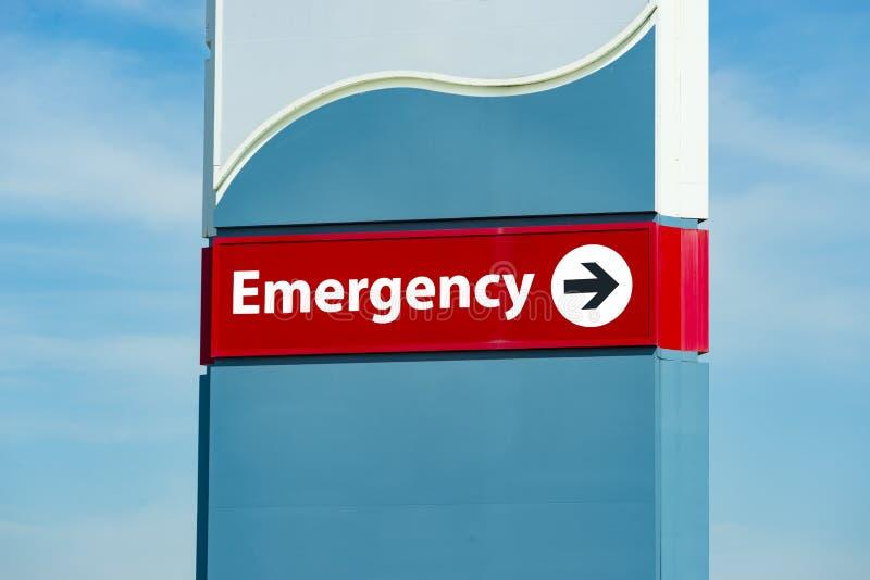 Signe de chambre de secours d'hôpital photo stock