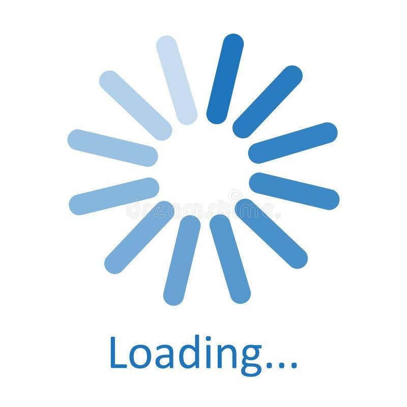 Signe de chargement circulaire, symbole de attente, icône bleue Illustration de vecteur illustration libre de droits