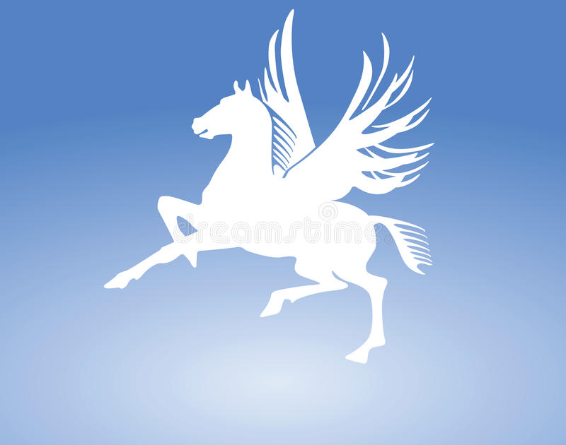 Signe de cheval de Pegasus illustration de vecteur