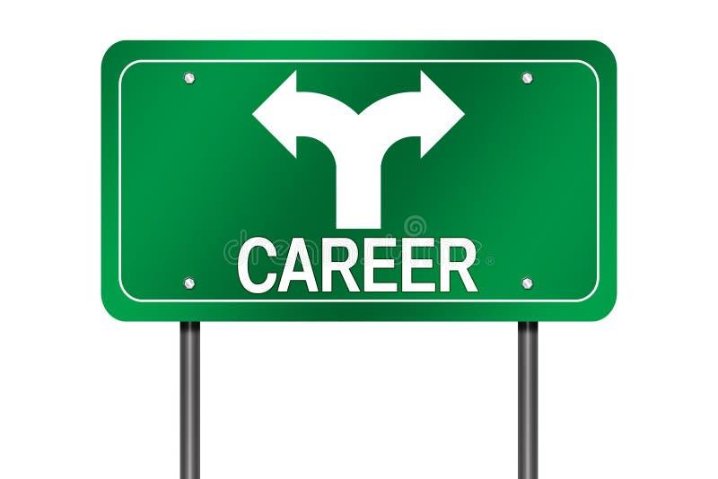 Signe de choix de carrière illustration stock