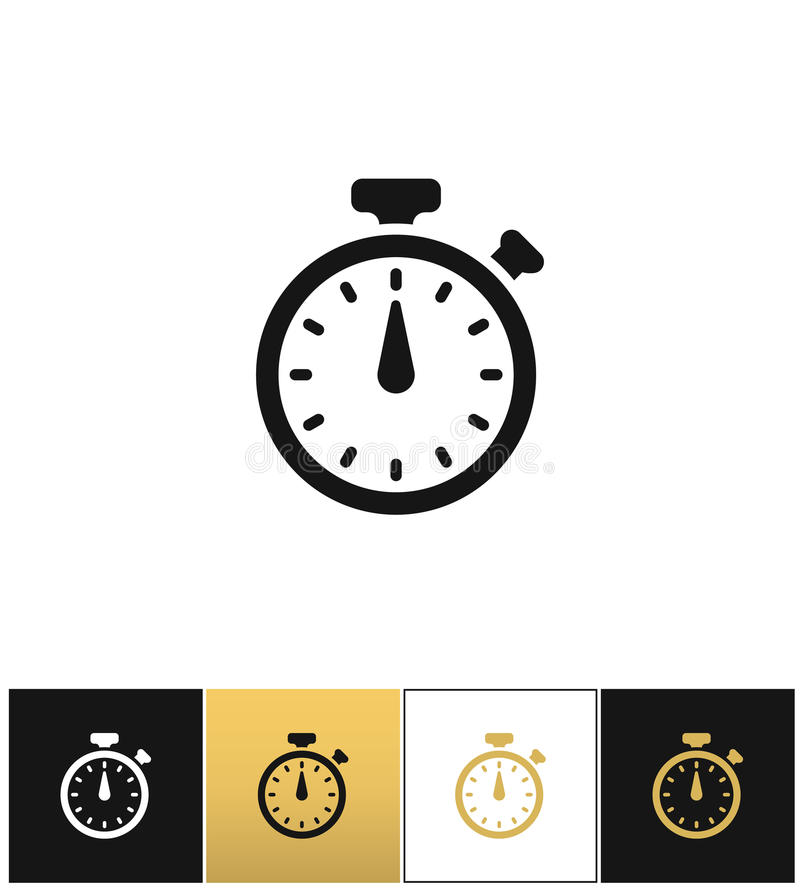 Signe de chronomètre ou icône analogue précise rapide de vecteur de minuterie de chronomètre d'horloge illustration stock