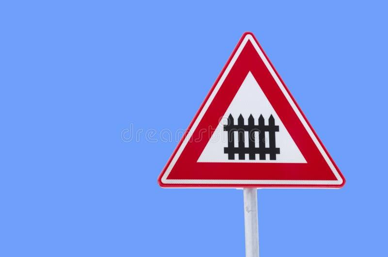 Signe de circulation ferroviaire image stock