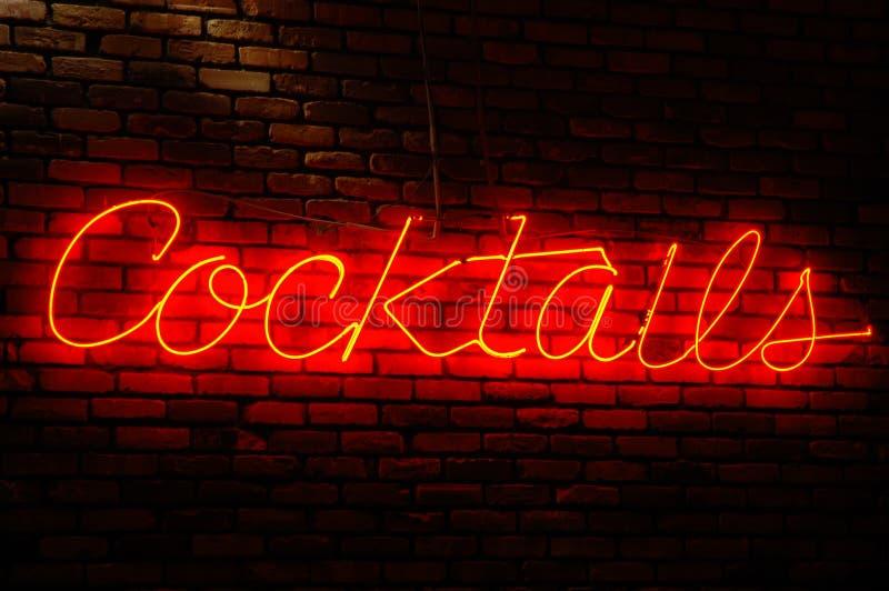 Signe de cocktails photographie stock libre de droits