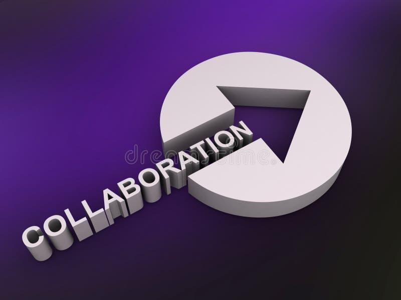 Signe de collaboration illustration libre de droits