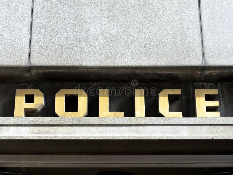signe de commissariat de police des années 40 image libre de droits