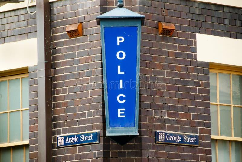 Signe de commissariat de police images stock
