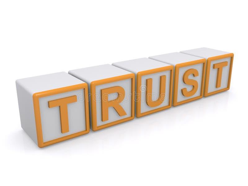 Signe de confiance illustration stock
