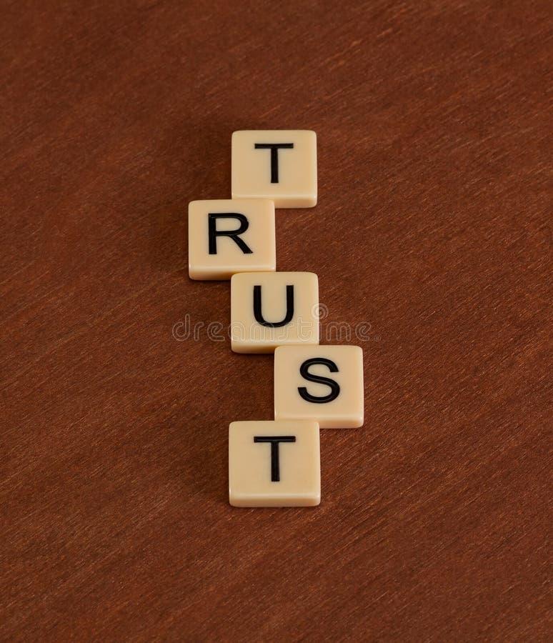 Signe de confiance photos stock