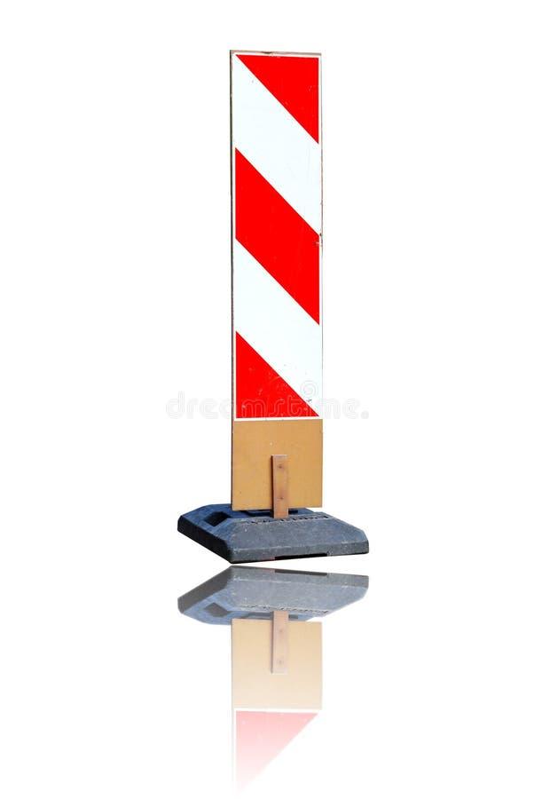 Signe de construction de routes photo stock