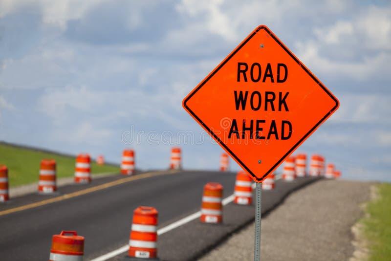 Signe de construction de routes photo libre de droits