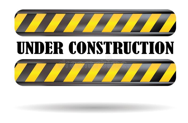 signe de construction dessous illustration stock