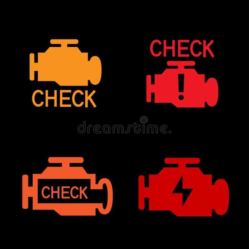 Signe de contrôle de moteur illustration de vecteur