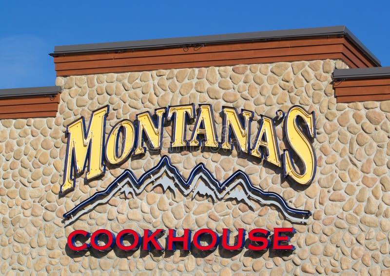 Signe de Cookhouse du ` s du Montana photos stock