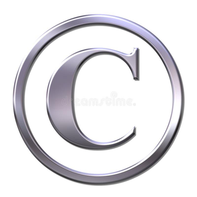 Signe de copyright illustration libre de droits