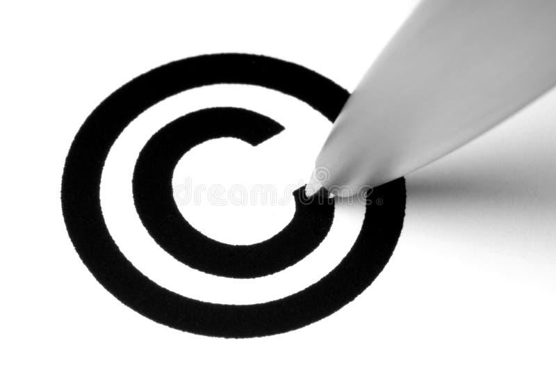 Signe de copyright image stock