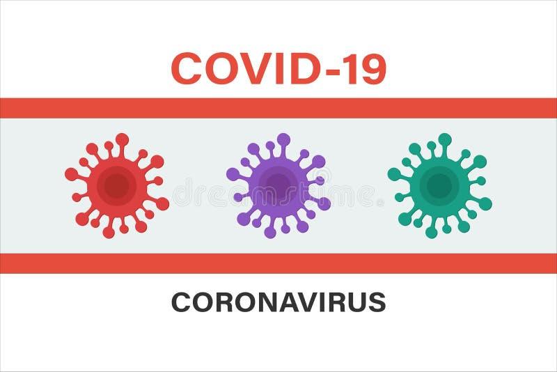 Signe de Coronavirus Icône de cellule du virus de Corona Bacteria photo stock