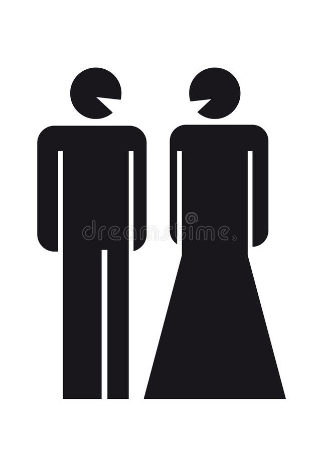 Signe de couples illustration libre de droits