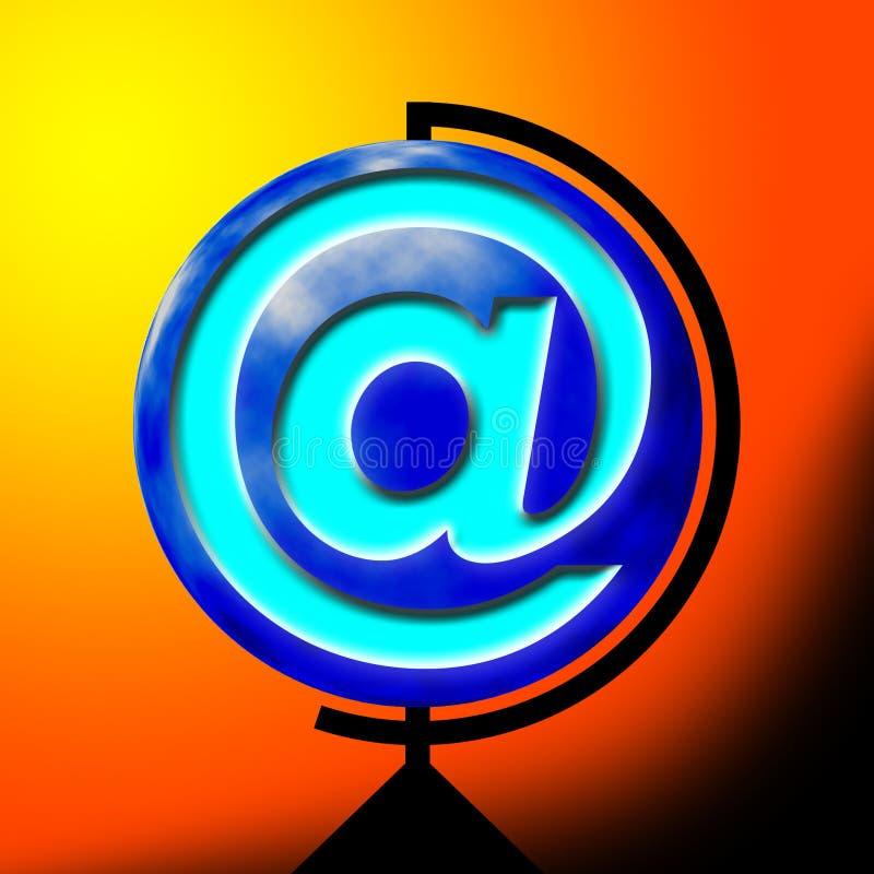 Signe de courrier illustration de vecteur