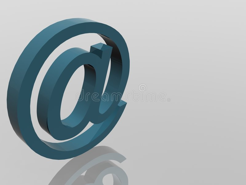 Signe de courrier d'Internet illustration stock