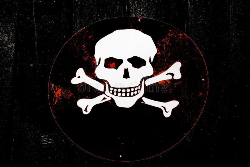 Signe de crâne image stock
