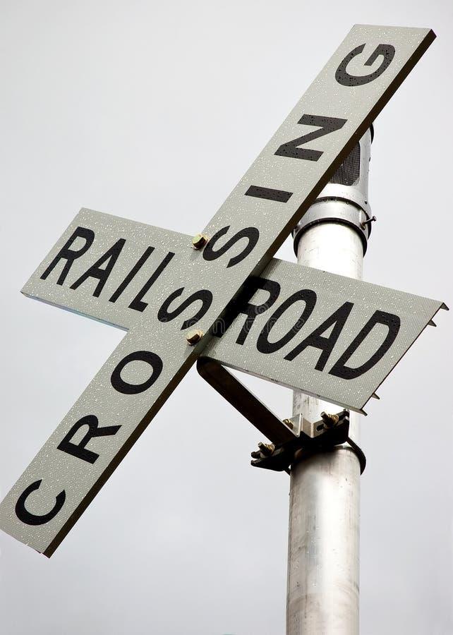 Signe de croisement de chemin de fer photos libres de droits