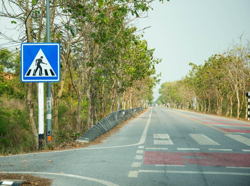 Signe de croisement de route, sécurité photographie stock libre de droits