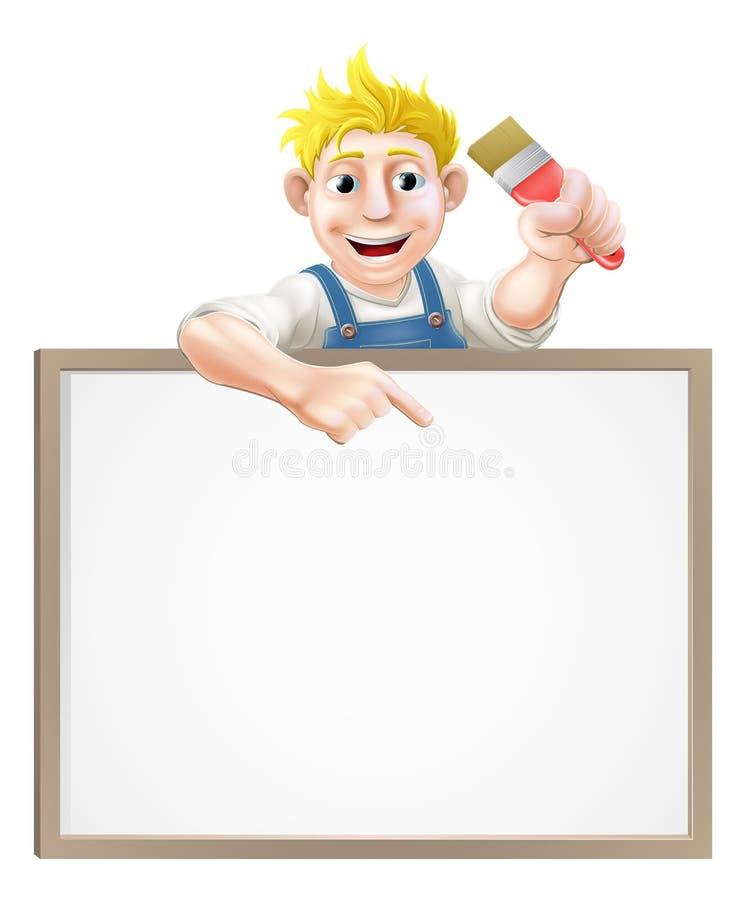 Signe de décorateur de peintre illustration de vecteur