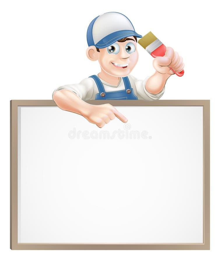 Signe de décorateur de peintre illustration libre de droits