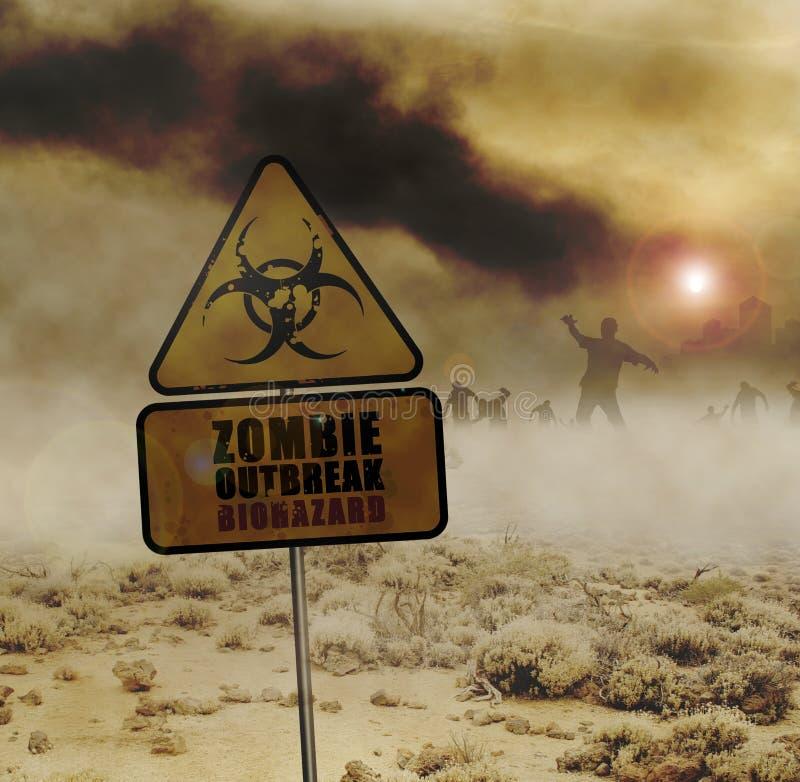 Signe de désert de zombis illustration libre de droits
